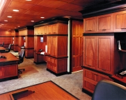 Office, modern, paneling, cabinetry