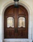 Arched double entry doors, CNC, millwork