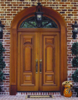 Entrance double door, with arch, wood, CNC, millwork