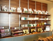 Commercial retail interior, wood, CNC