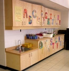Classroom, cabinets, wood, CNC